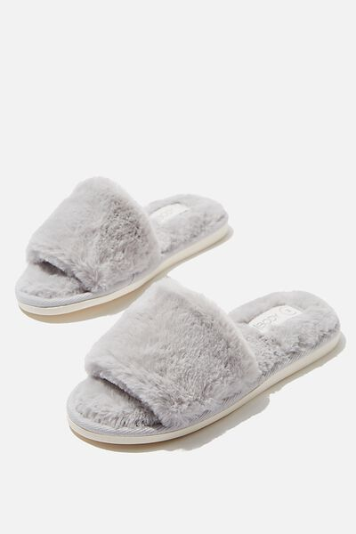 Emma Slide Slipper, GREY