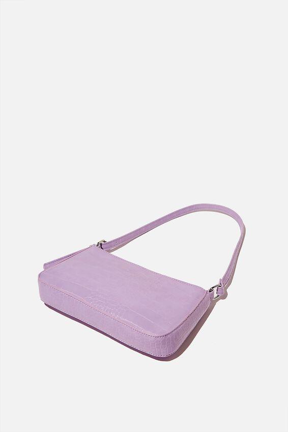 Lexi Underarm Bag, POWDER LILAC TEXTURE
