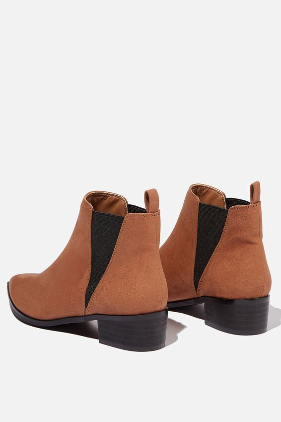 Shoreditch V Gusset Boot, TAN