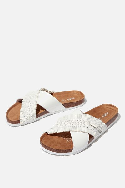 Rex Braided X Over, WHITE PU