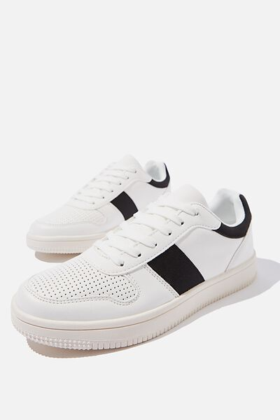 Alba Retro Low Rise, WHITE BLACK MULTI