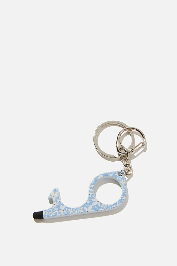 Touch Free Key Ring, DEMI DITSY NEW WAVE BLUE