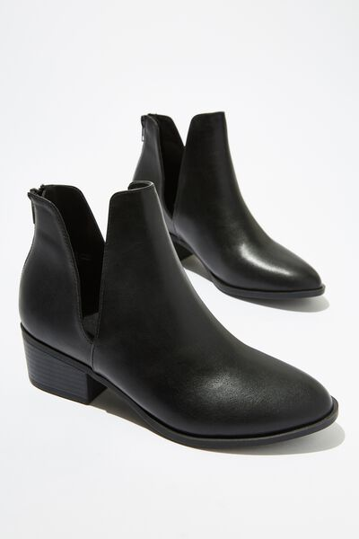 Eastwood Cut Out Boot, BLACK