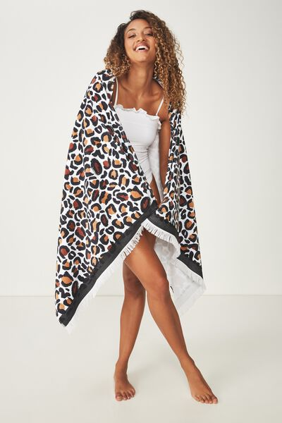 Love A Classic Towel, PAINTED LEOPARD