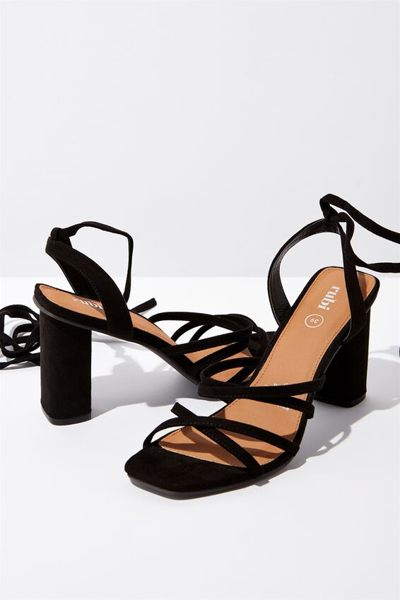 Tonic Strappy Heel, BLACK MICRO