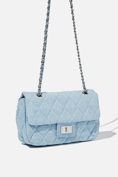 Hailey Quilted Cross Body Bag, BURLEIGH BLUE