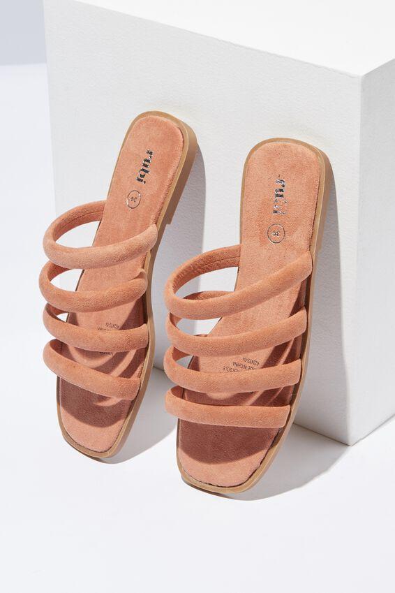 Chole Strappy Sandal, FUDGE MICRO