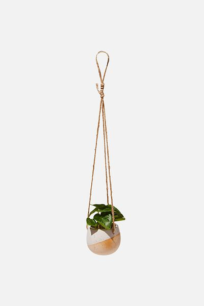 Sml Hanging Planter Pot, WHITE