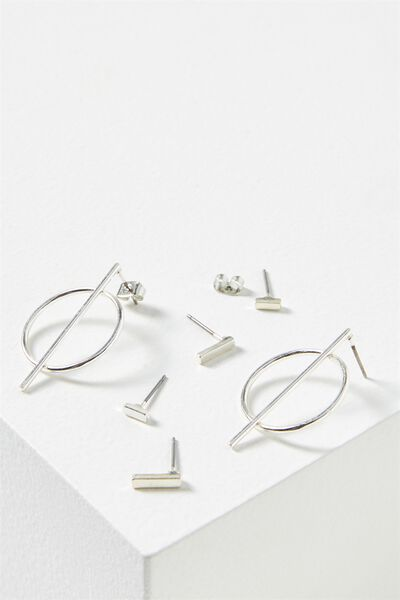 Rachael Core Stud Pack, SILVER