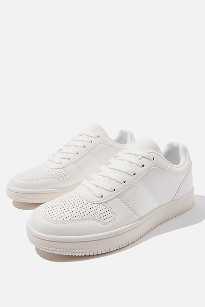 Alba Retro Low Rise, WHITE