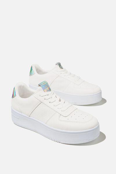 Alexa Platform Sneaker, WHITE HOLOGRAPHIC