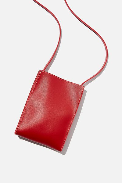 Connie Vertical Bag, RED