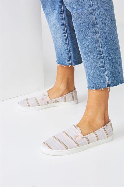 Hazel Slip On Sneaker, PASTEL STRIPE MULTI