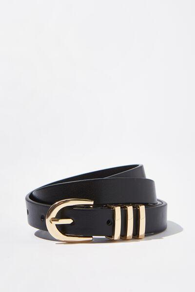 Triple Loop Belt, BLACK