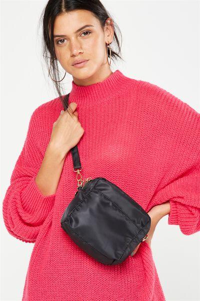 Cora Cross Body Bag, BLACK