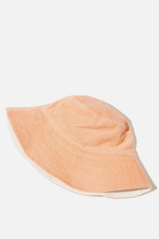 Elly Reversible Wide Brim Bucket Hat   Cotton On