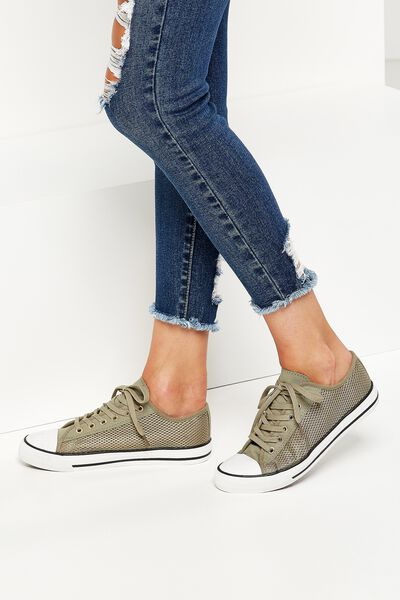 Jodi Low Rise Sneaker 1, SAGE MESH