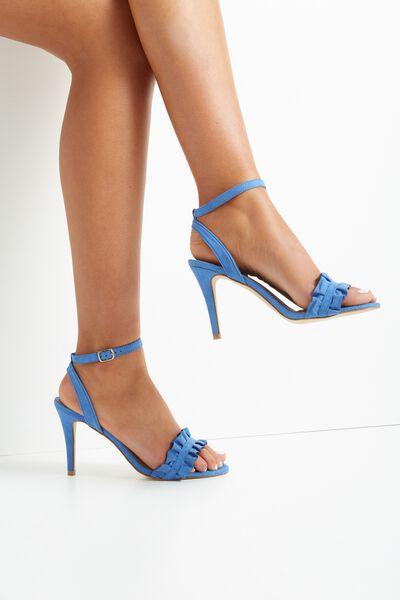 Pina Colada Stiletto Frill Heel, CHAMBRAY