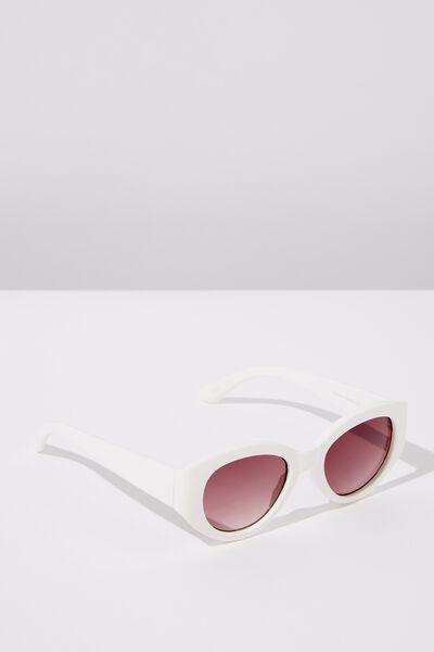 Olivia Sunglasses, WHITE