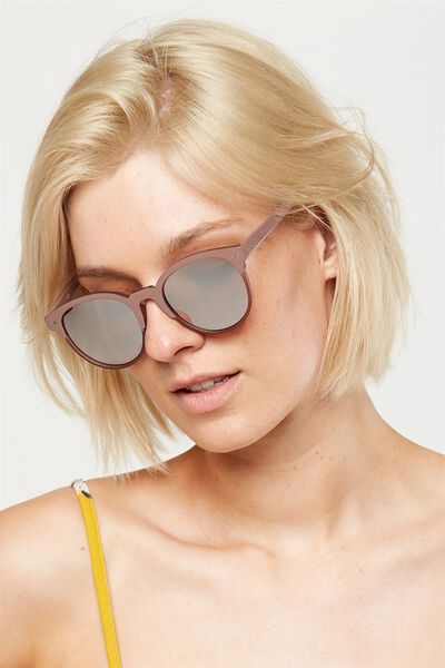 Angie Preppy Sunglasses, MINK/ROSE GOLD