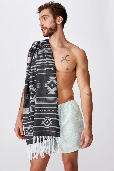Burleigh Lightweight Towel, BLACK AZTEC
