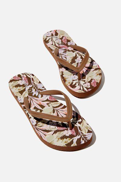 The Rubi Flip Flop, CHOCOLATE PALM TROPICAL