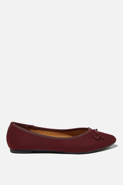 Essential Evelyn Point Ballet, OXBLOOD MICRO