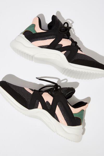 Lauren Sneaker, BLACK MULTI
