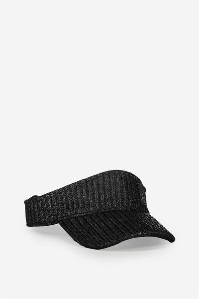 Straw Visor, BLACK