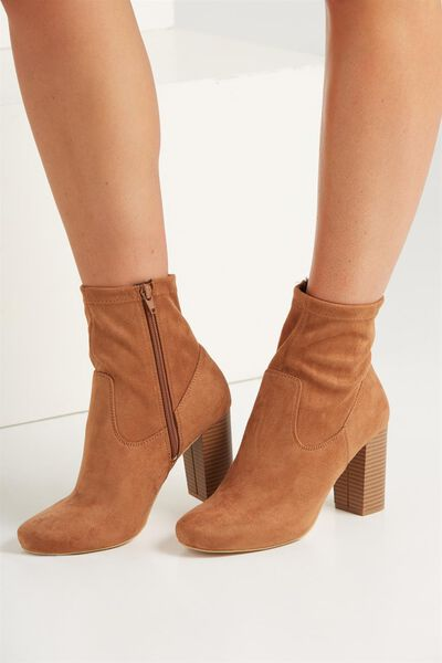 Brighton Sock Boot, TAN MICRO