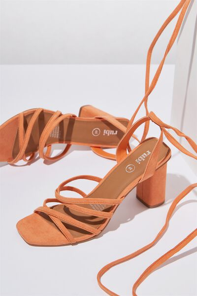 Tonic Strappy Heel, DEEP APRICOT MICRO