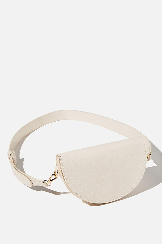 Georgie Cross Body Bag, ECRU TEXTURE