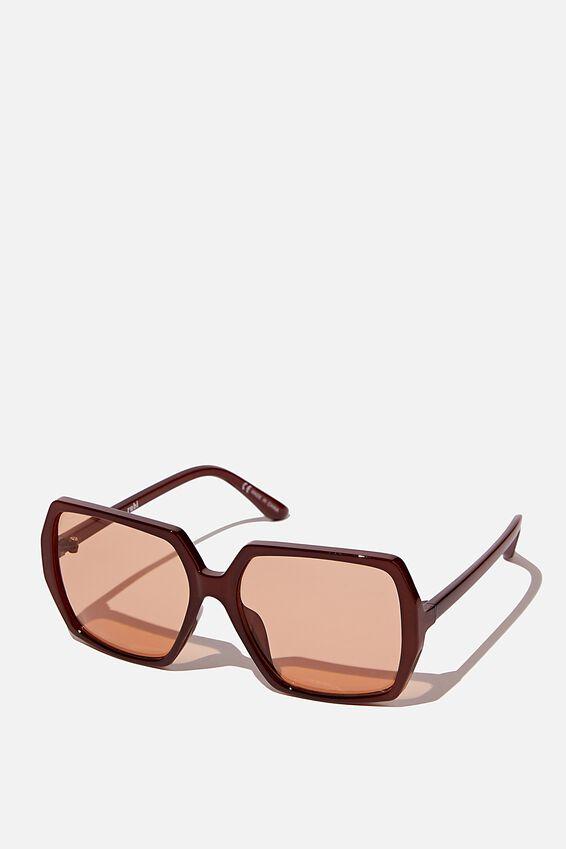 Laurie Oversized Sunglasses, ESPRESSO