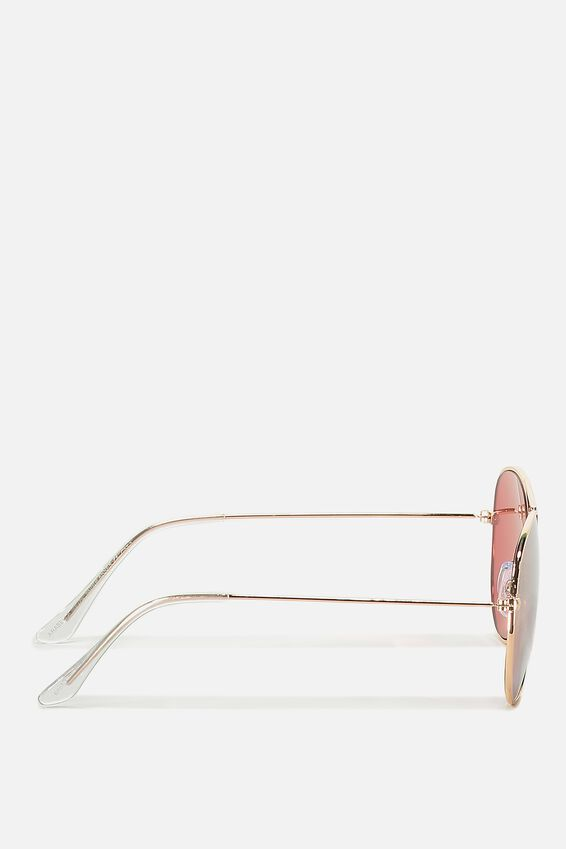Arabella Metal Sunglasses, ROSE GOLD/ROSE GOLD