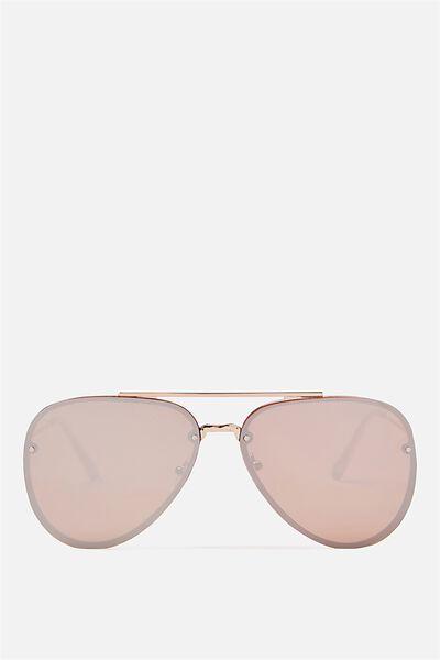 Ariana Aviator Sunglasses, ROSE GOLD