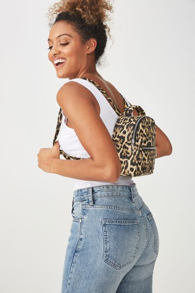 Cara Mini Backpack, ANIMAL PRINT