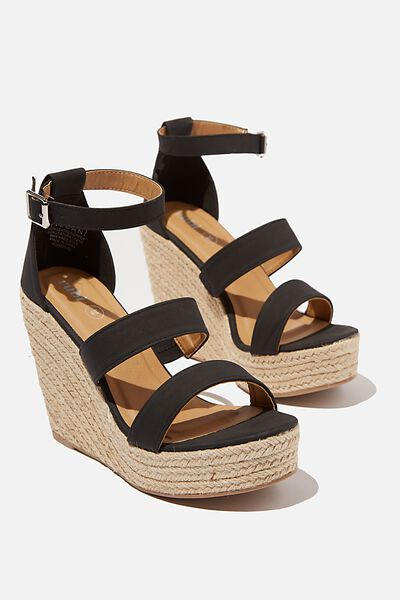 Brady Wedge Espadrille, BLACK NUBUCK