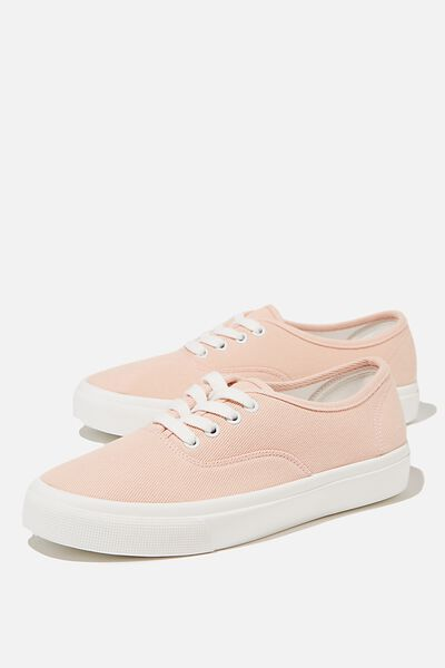 Jamie Lace Up Plimsoll, BABY PINK
