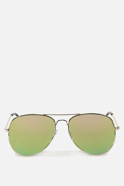 Arabella Metal Sunglasses, GOLD/PINK