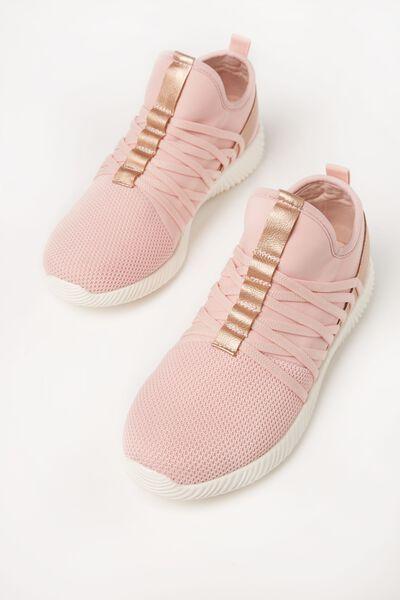 Faith Sock Trainer, DUSTY ROSE SPLICE