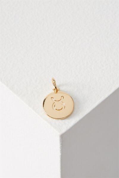 Zodiac Charm, GOLD TAURUS