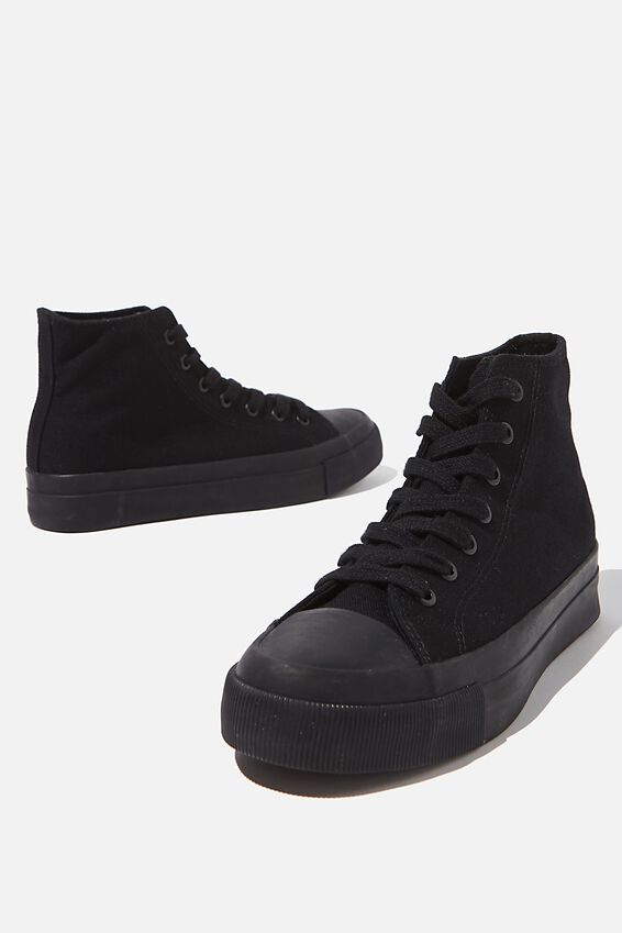 Britt Retro High Top, BLACK BLACK