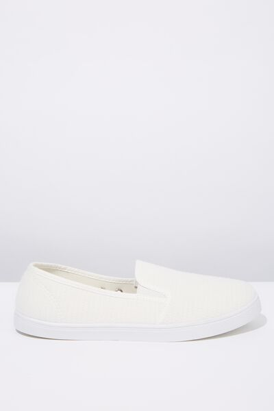 Zoe Slip On, WHITE TEXTURE