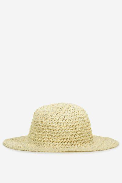 Straw Bucket Hat, NATURAL MIX