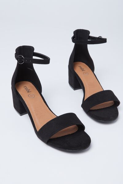 Ivy Low Block Heel, BLACK
