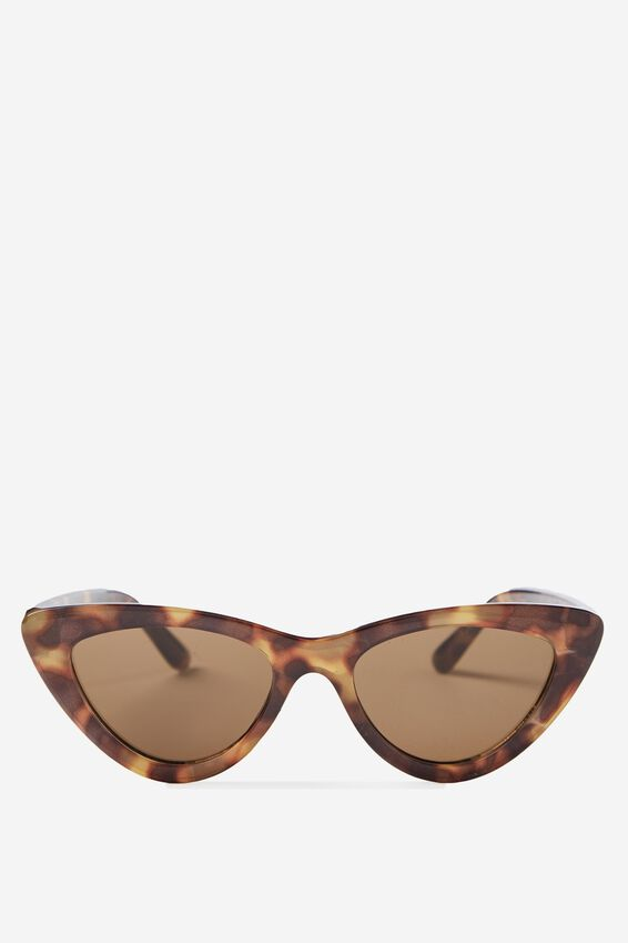 Narrah Short Frame Cateye Sunglasses, DARK TORT