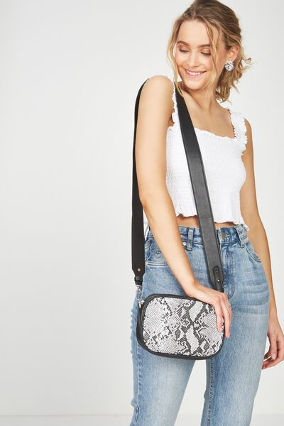 Luxe Cross  Body Bag, SNAKE SPLICE