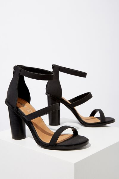 Lily Block Heel, BLACK