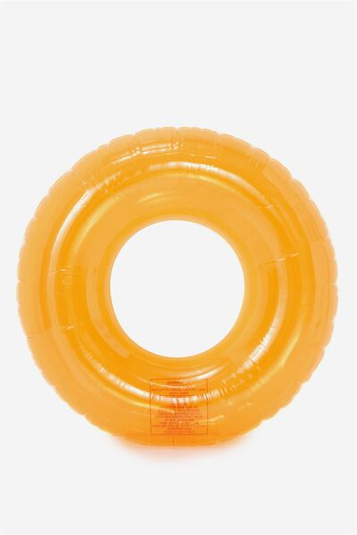 Float Me Inflatable Ring, NEON ORANGE