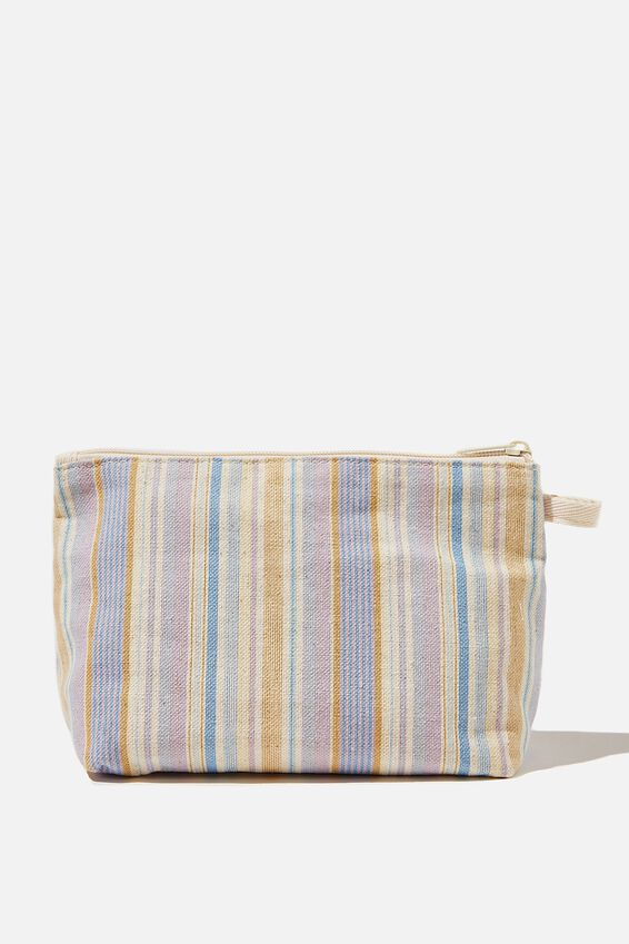 Cosmetic Pouch, POPPY STRIPE LILAC BLOOM